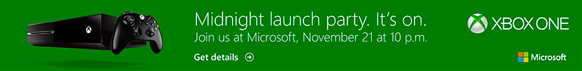 Digital banners for Xbox One event